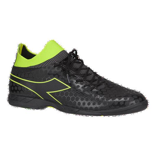 9a5e279ec450 Diadora Men's Primo Indoor Soccer Shoes - Black/Yellow | Sport Chek