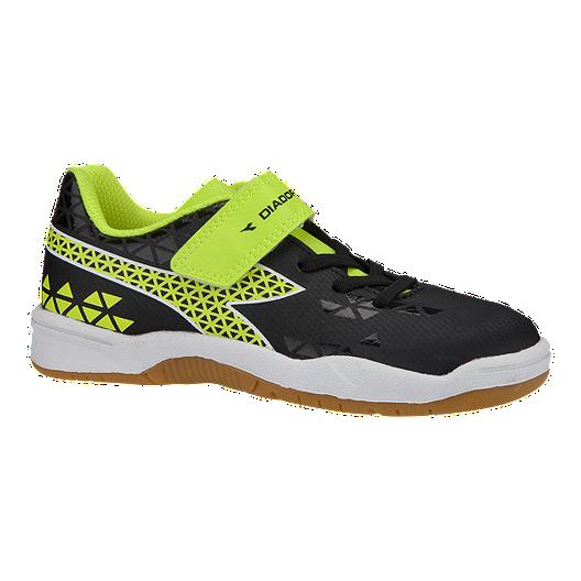 18023640b Diadora Kids  Burst Indoor Preschool Velcro Soccer Shoes