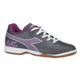 Diadora Girls' Burst Indoor Grade School Soccer Shoes