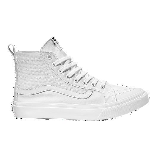 8be44da099 Vans SK8 Hi Slim Gore Checker Shoes - White