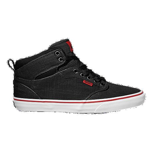 ce578f2aea0d03 Vans Men s Atwood Hi Skate Shoes - Black Red