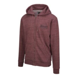 Quiksilver Men's Jungle Forest Full Zip Hoodie - Pomegranate Heather