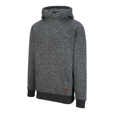 Quiksilver Men's Keller Polar Fleece Pullover Hoodie - Dark Grey Heather