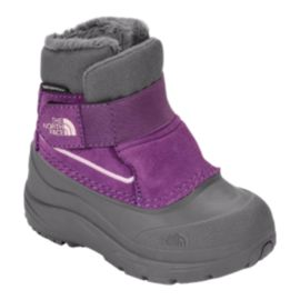 The North Face Toddler Girls' Alpenglow Winter Boots - Grey/Violet