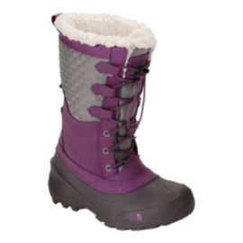 The North Face Girls' Shellista Lace III Winter Boots - Violet/Grey