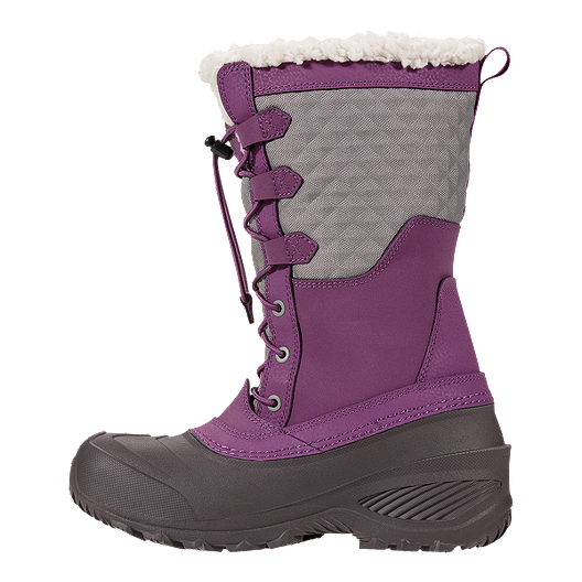 fca5e3b13 The North Face Girls' Shellista Lace III Winter Boots - Violet/Grey