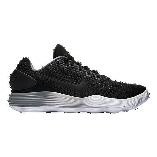 e02284ad73fd Nike Men s Hyperdunk 2017 Low Basketball Shoes - Black Grey White ...