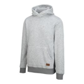 Quiksilver Men's Keller Polar Fleece Pullover Hoodie - Light Grey Heather