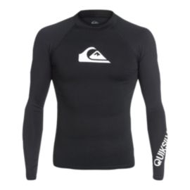Quiksilver Men's All Time Long Sleeve Rashguard - Black