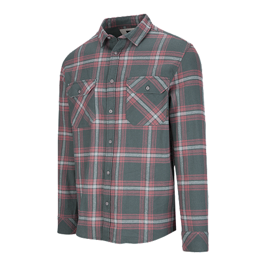 19798c557ba9 Quiksilver Men's Forktail Flannel Long Sleeve Shirt - URBAN GREY