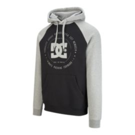 DC Men's Rebuilt 2 Raglan Hoodie - Black/Heather Grey