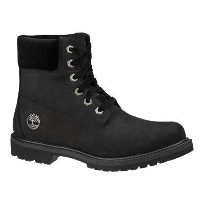 Timberland Women's Icon 6 Inch Boots - Black Nubuck