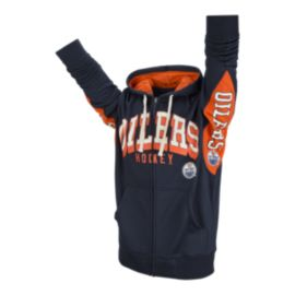 Edmonton Oilers Hands High Home Run Full Zip Hoodie