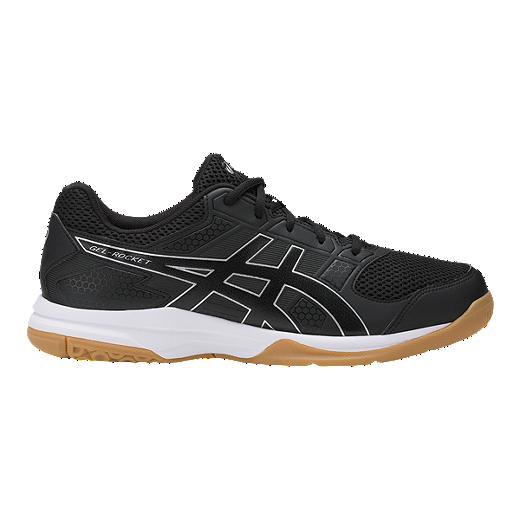 e2cb2570405 ASICS Men s Gel Rocket 8 Indoor Court Shoes - Black White Gum - BLACK