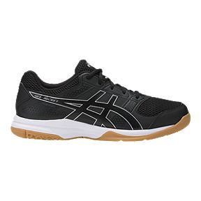 sale retailer c7891 24fdd ASICS Men s Gel Rocket 8 Indoor Court Shoes - Black White Gum