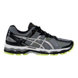 ASICS Men's Gel Kayano 22 Running Shoes - Grey/Black/Lime