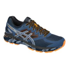 ASICS Men's GT 2000 4 Trail Running Shoes - Blue/Navy/Orange