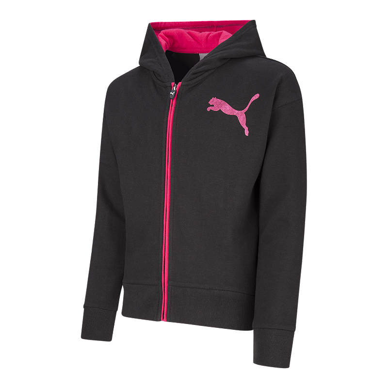 best service 639a9 f41c9 PUMA Girls  French Terry Full Zip Hoodie   Sport Chek