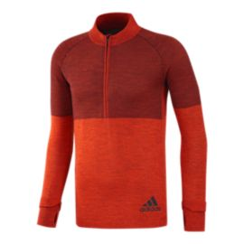 adidas Men's Climaheat 1/2 Zip Long Sleeve Shirt