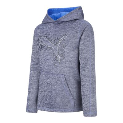 PUMA Boys' Logo French Terry Pullover Hoodie