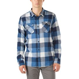Vans Men's Box Flannel Long Sleeve Shirt - Delft/Marshmallow