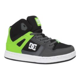 DC Kids' Rebound Elastic Preschool Shoes - Lime/Black/White