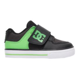 DC Toddler Pure V II Skate Shoes - Green/Black/White
