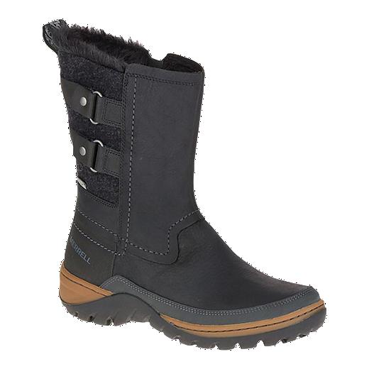 69777aa77512c Merrell Women's Sylva Mid Buckle Waterproof Boots - Black   Sport Chek