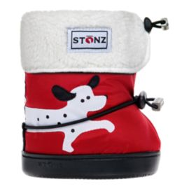 Stonz Toddler Dalmatian Booties - Red