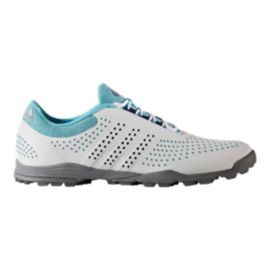 Adidas Golf Women's Adipure Sport Shoes - White/Silver/Blue