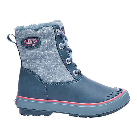 62485ea5961 Keen Girls' Elsa Waterproof Winter Boots - Blue/Coral