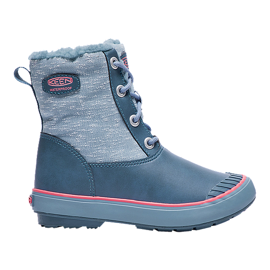 78888efc03c Keen Girls' Elsa Waterproof Winter Boots - Blue/Coral | Sport Chek