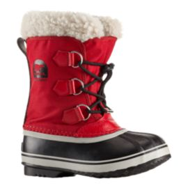 Sorel Kids' Yoot Pac Winter Boots - Red/Black
