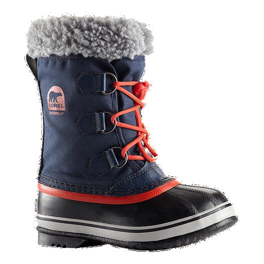 f5f309fe27b9 Sorel Kids  Yoot Pac Nylon Winter Boots - Navy Orange