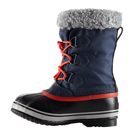 6c36929565e Sorel Kids  Yoot Pac Nylon Winter Boots - Navy Orange