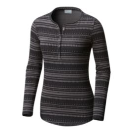 Columbia Women's Aspen Lodge Jacquard Henley  Shirt