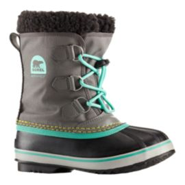 Sorel Girls' Yoot Pac Nylon Winter Boots - Grey/Teal
