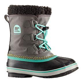 da0f6a1d4d7e Sorel Girls  Yoot Pac Nylon Winter Boots - Grey Teal