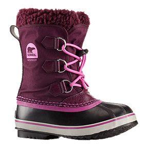 c8f51a807493 Sorel Girls  Yoot Pac Nylon Preschool Winter Boots - Purple