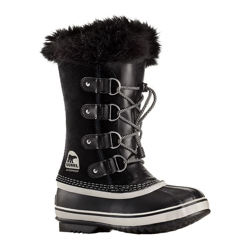 a218c70ef10664 Sorel Girls' Joan of Arctic Winter Boots - Black/Oyster (190540728318) photo