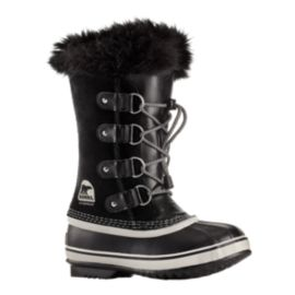 Sorel Girls' Joan of Arctic Winter Boots - Black/Oyster