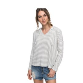 Roxy Women's Lovely Aside Stripe Long Sleeve Hoodie