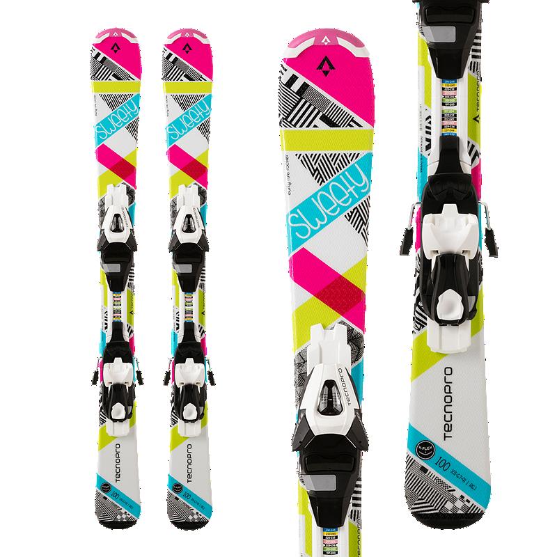 Tecnopro Sweety ET Junior Skis 2017/18 & Tecnopro ETC 45