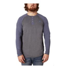 Gongshow Men's High Slot Raglan Henley Long Sleeve Shirt