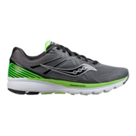Saucony Men's PowerGrid Swerve Running Shoes - Grey/Black/Green