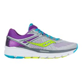 Saucony Women's PowerGrid Swerve Running Shoes - Grey/Purple/Blue