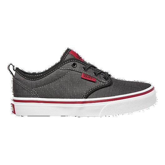 425c111405 Vans Kids  Atwood Slip-On Shoes - Black Chili White