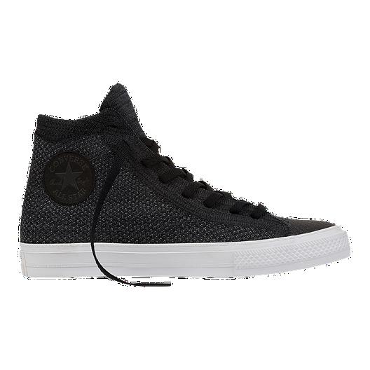 e7de30e2 Converse Chuck Taylor All Star Hi x Nike Flyknit Shoes - Black/White ...