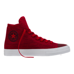 Converse Chuck Taylor All Star Hi x Nike Flyknit Shoes - Red White ... 6357842d60