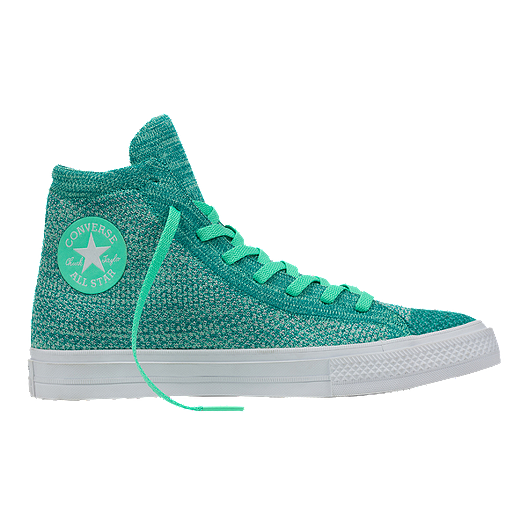 377504c009ebcd Converse Chuck Taylor All Star Hi x Nike Flyknit Shoes - Green White ...
